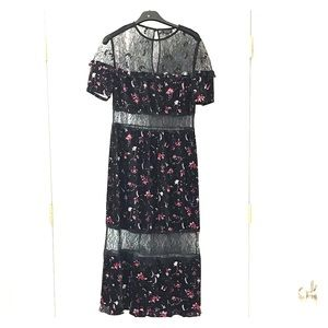 topshop velvet and lace dress